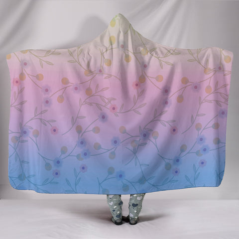 Shades of Spring Hooded Blanket