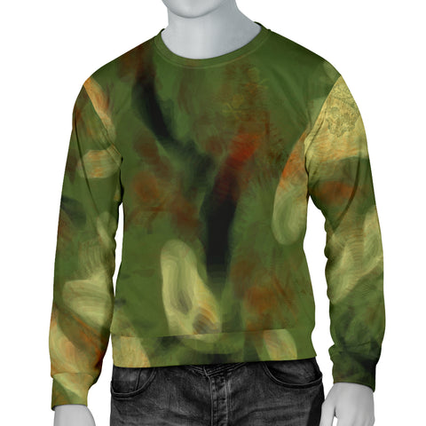 Abstract Camo Hidden Skulls Men's Sweater