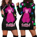 Faithful Pink Poodle Dog Hoodie Dress