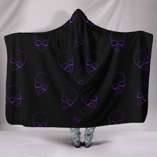 Space Aliens Hooded Blanket