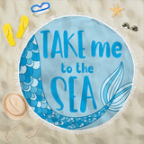 Take Me To The Sea Mermaid Beach Blanket