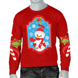 Men's Ugly Christmas Sweater with Snowman