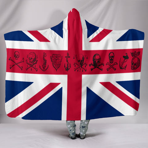 UK Flag with Pirate Skulls United Kingdom Skull Design SOLD OUT