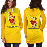 Love You Jack Russell Terrier Hoodie Dress for Lovers of Jack Russells