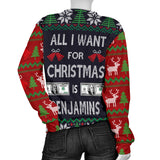 Ugly Christmas Sweater All I Want is Benjamins for Women