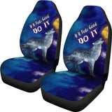 If It Feels Good Do It Car Seat Cover with Wolf Howling