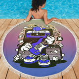 Amped Guitar Beach Blanket for Musicians and Music Freaks