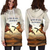 Wild Hearts Can't Be Broken Hoodie Dress for Lovers of Horses