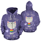 I Like Pussy Deal With It All Over Print Hoodie Zip