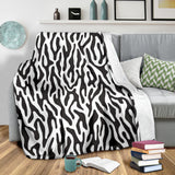 Black and White Animal Pattern Premium Blanket