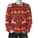 Ugly Christmas Red Yellow Green Women's Sweater