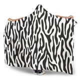 Black and White Animal Pattern Hooded Blanket