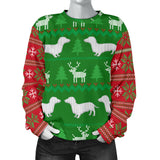 Ugly Christmas Sweater With Dachshunds Women's
