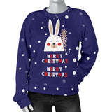Merry Christmas Bunny Women's Sweater