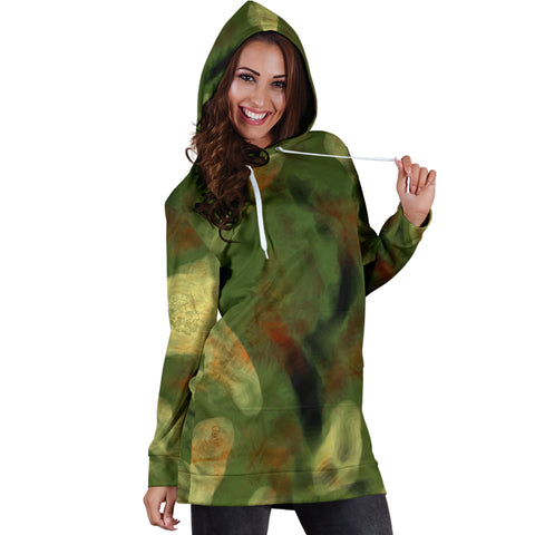 Abstract Camo Hidden Skulls Hoodie Dress