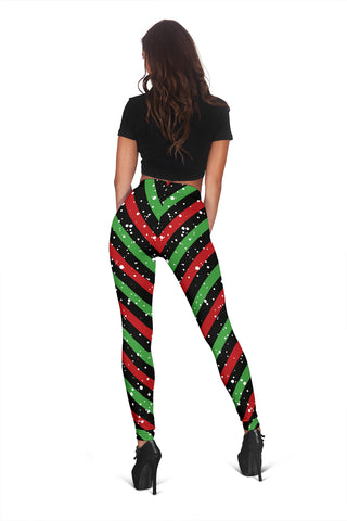 Candy Red Green Black Leggings