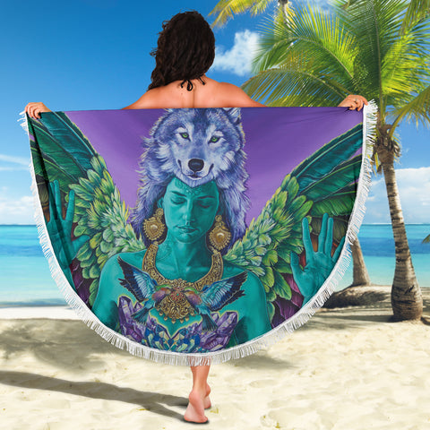 Independent Soul Round Beach Blanket
