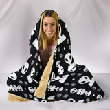 Aliens On My Mind Hooded Blanket Black
