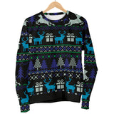 Ugly Christmas Black Purple and Blue Women's Sweater