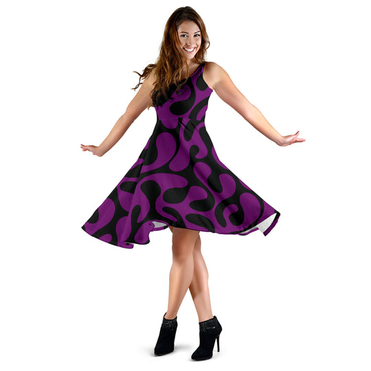 Purple and Black Are Back Women's Midi Dress