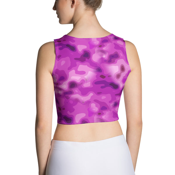 Pretty In Pink Camo Crop Top for Camouflage Lovers