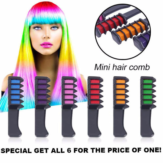 Amazing Hair Color Combs 6 Pack Special