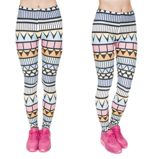 Sexy Azteca Print High Waist Leggings - 5 Styles Available