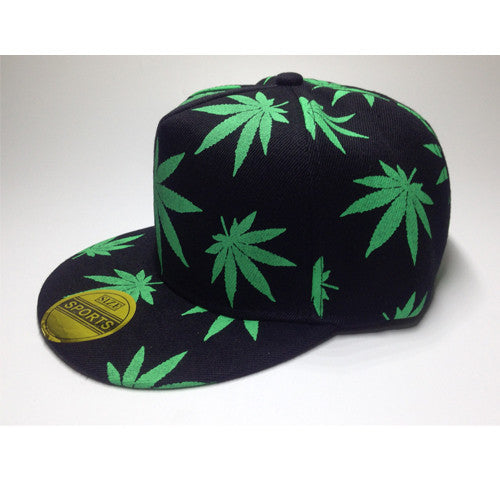 Weed Leaf Hip Hop Baseball Hat - 4 Styles Available