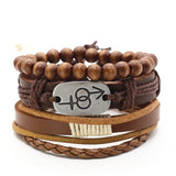 Cuff Wrap Leather Charm Bracelets For Men & Women - 9 Styles