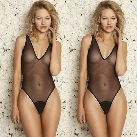Bedroom Killa Mesh Vneck Bodysuit
