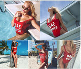"Z SOLD OUT Free Offer ""The Hello Sexy"" Red One Piece Swimsuit - Available In 2 Styles"