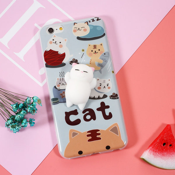 Free Offer Squishy Cat Phone Cases for iPhones