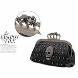 Rhinestone Skull Clutch Evening Handbag