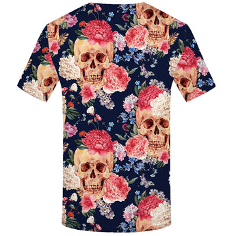 Skull & Skeleton Printed T-Shirts for Women