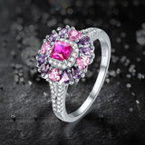 Ruby Spinel Sterling Silver Ring