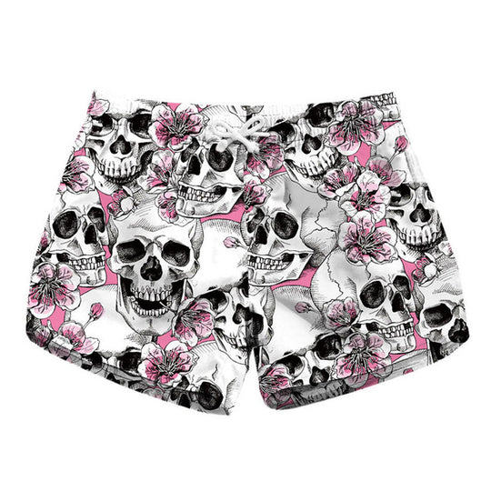 Women's Skull Beach Swim Shorts