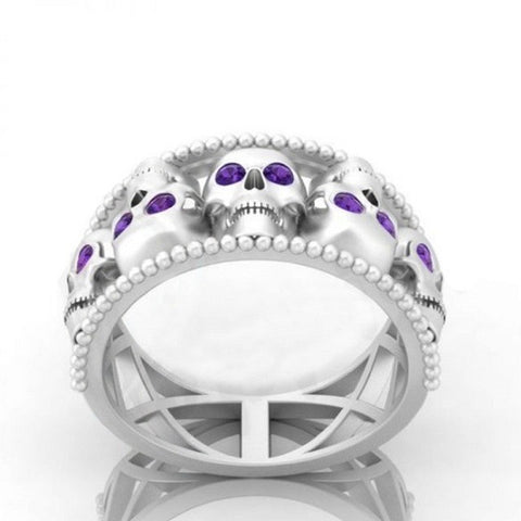 Hollow Gothic Skull Rings