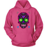 Wicked Skull Unisex Hoodie for Lovers of Sugar Skulls