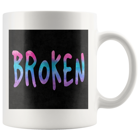 Broken Mug Grunge Meets Watercolor