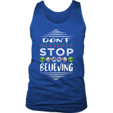 Don't Stop Believing in Aliens Unicorns Skulls District Men's Tank