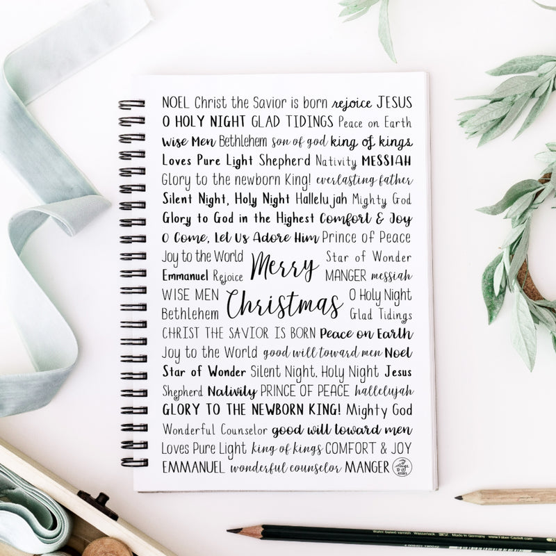 Christian Christmas Spiral Notebook