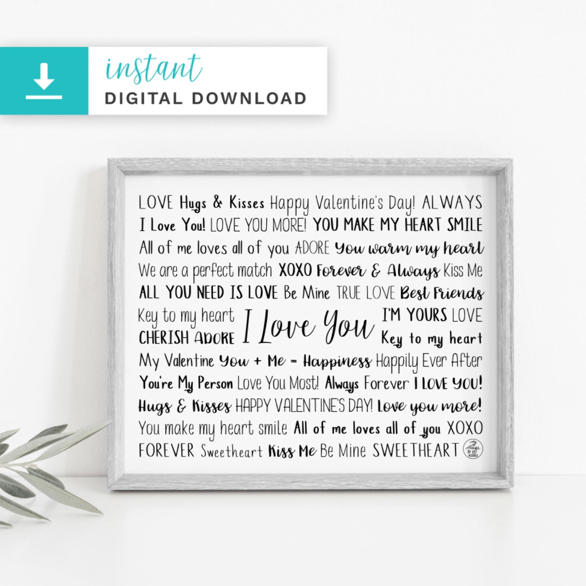 Valentine's Day Digital Download