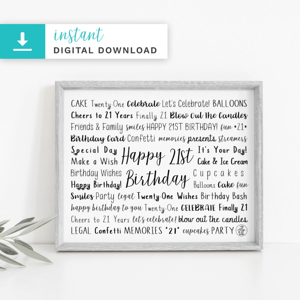 21st Birthday Digital Download