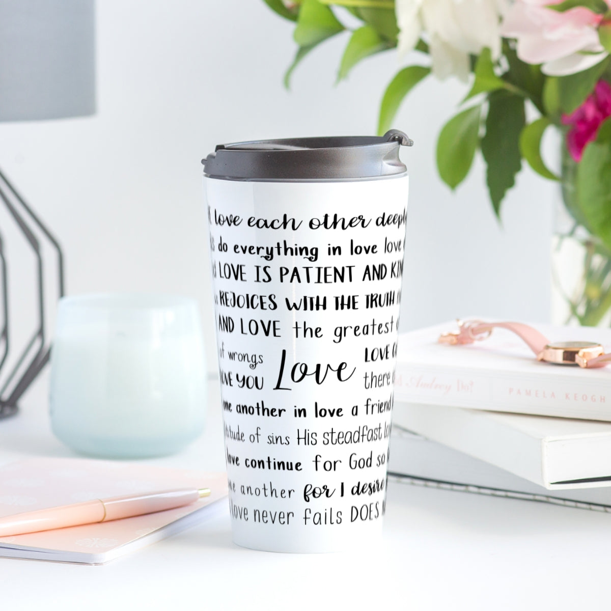 Love Scriptures Travel Mug