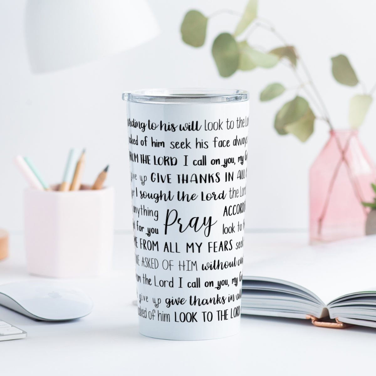 Prayer Scriptures Tumbler