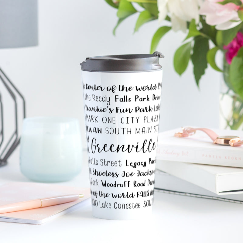 Greenville, SC Travel Mug