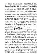 Psalm 91 Spiral Notebook