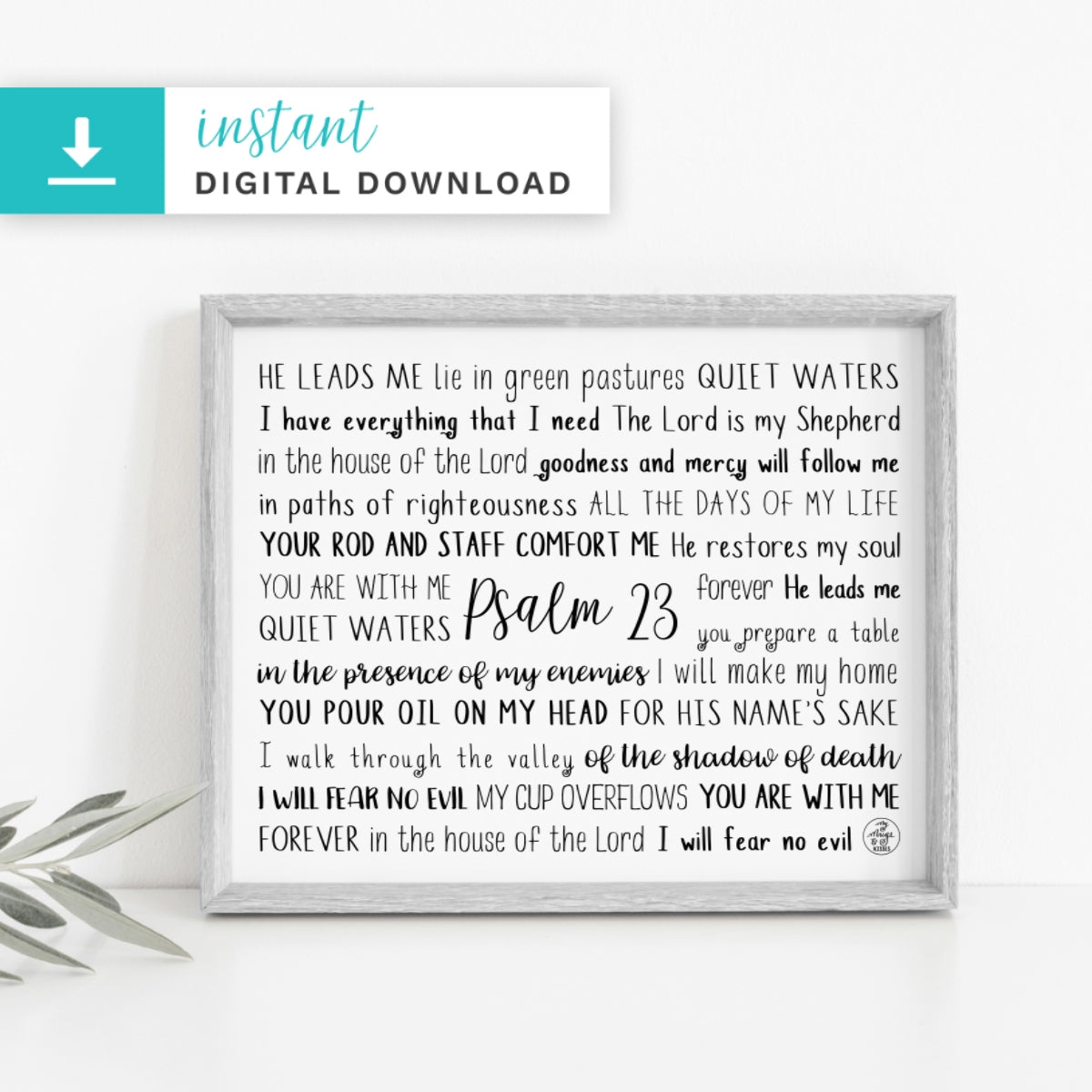 Psalm 23 Digital Download