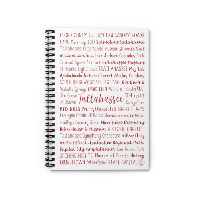 Visit Tallahassee Spiral Notebook