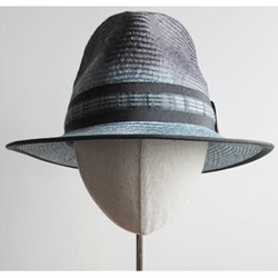 Dip-Dyed Black and Blue Fedora